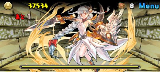 裏・アイテール砂漠 5ステージ ボス 白盾の女神・ヴァルキリー