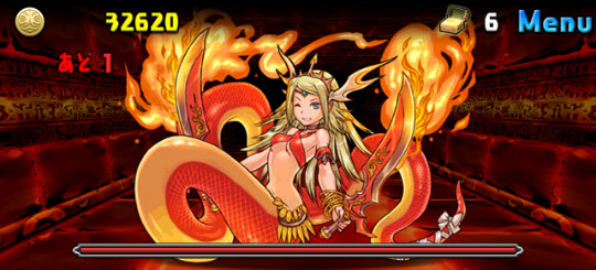 裏・炎樹の祠 2ステージ ボス 紅蓮の女帝・エキドナ