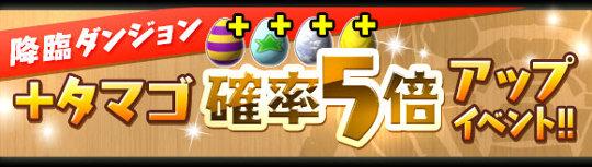 降臨ダンジョン「+タマゴ」確率5倍アップイベント!