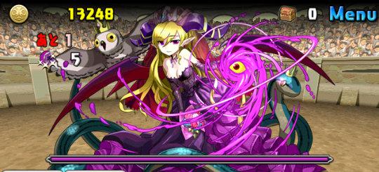 チャレンジダンジョン28 Lv7 4F 漆黒夜の魔姫・リリス