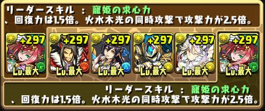 チャレンジダンジョン29 Lv7 固定チーム