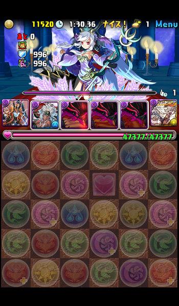 ヘラ=ドラゴン降臨 壊滅級 2F 二撃目で敵がHP50%回復
