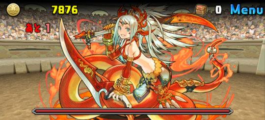 チャレンジダンジョン32 Lv7 3F 紅蓮華の女傑・エキドナ