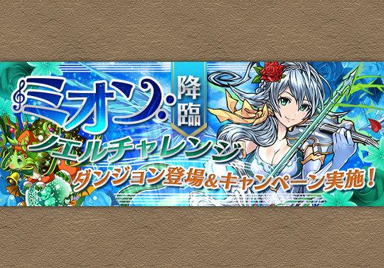 ミオン降臨で木ノエル経験値アップキャンペーンを実施!
