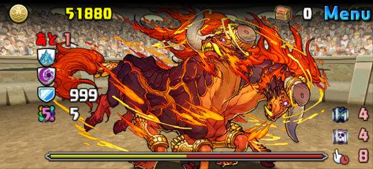 チャレンジダンジョン35 Lv7 ボス 焦角の天火神・アグニ