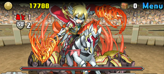 チャレンジダンジョン40 Lv7 4F 焔剣の勝利神・フレイ