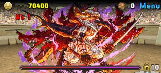 チャレンジダンジョン42 Lv9 3F 義憤の天魔龍・ノブナガ