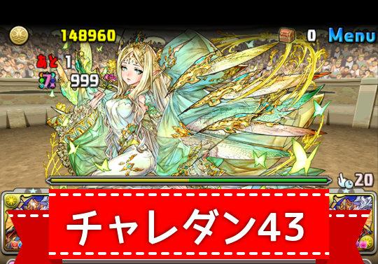 チャレンジダンジョン43 ダンジョンマップ