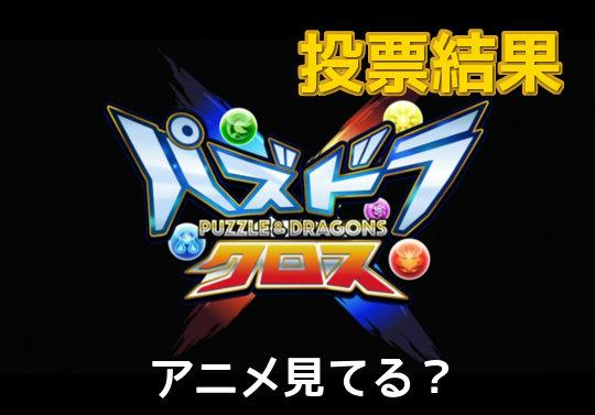 【投票結果】アニメ・パズドラクロス見てる?