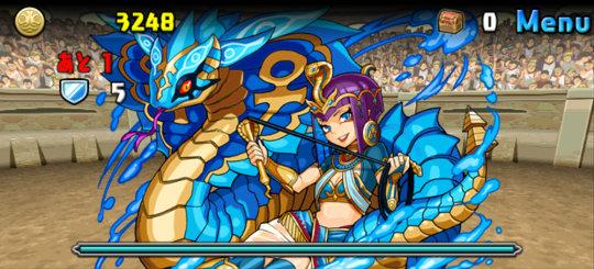 チャレンジダンジョン47 Lv4 ボス 秘海の龍騎姫・クレオパトラ