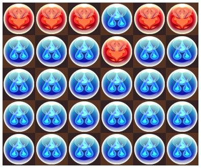 夏のガチャドラ降臨 超地獄級 4F 3コンボパズル1