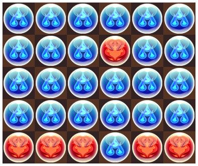 夏のガチャドラ降臨 超地獄級 4F 3コンボパズル2