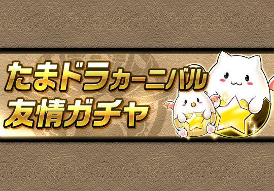 8月25日12時から友情ガチャ「たまドラカーニバル」が登場!