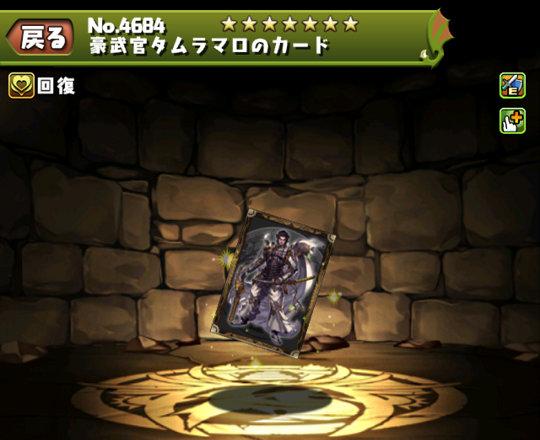 豪武官タムラマロのカードのステータス
