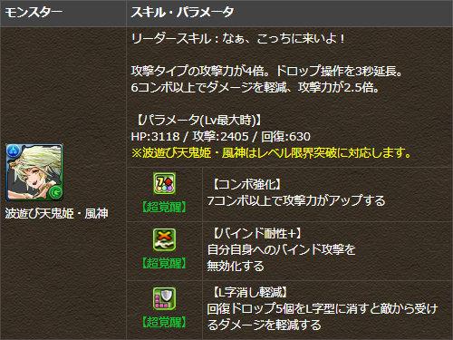 楽園の天鬼姫・風神が究極進化!2