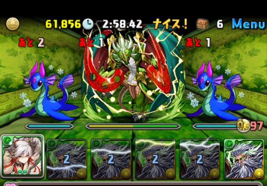 【動画】木の伴神龍 超地獄級をディオス×カエデパで高速周回!ヨウビ入り編成