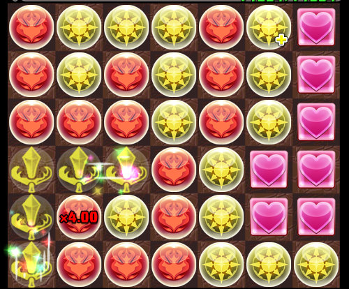 ボス戦でのイルミナ・ミルのパズル