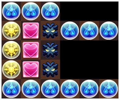 ガネーシャの財窟 アグニ戦の6コンボパズル