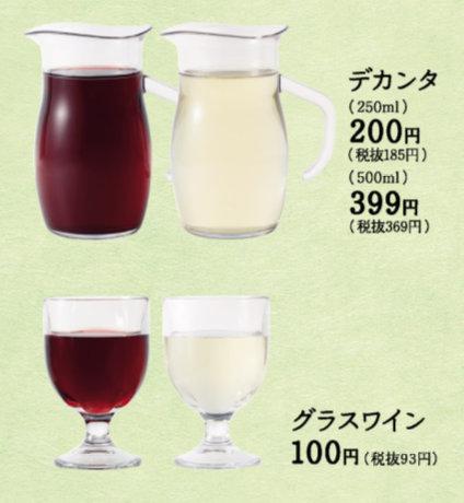 サイゼリヤ グラスワイン 100円