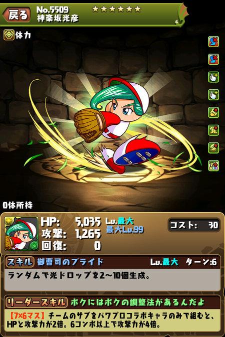 神楽坂光彦のステータス画面