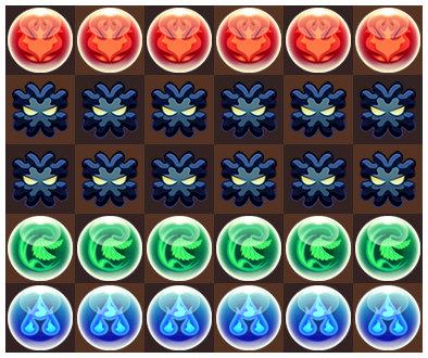 ソニアたまドラ降臨 6コンボパズル1