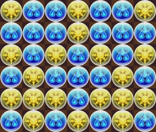 2色陣十字パズルのベース