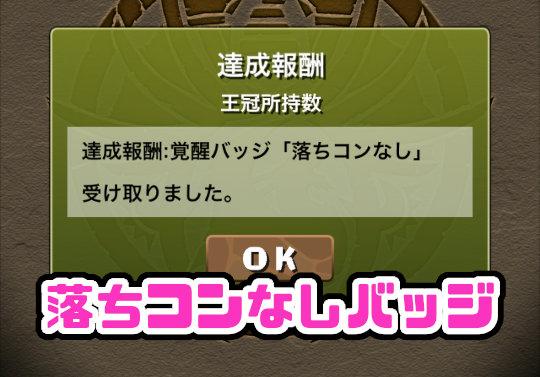 パズドラ女子「王冠30個目!念願の落ちコンなしバッジゲット!」