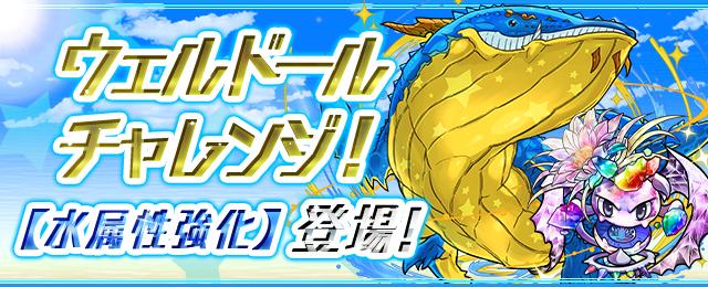 「ウェルドールチャレンジ!【水属性強化】」登場!