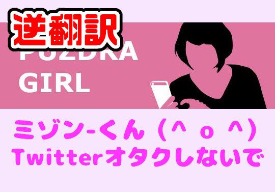 パズドラ女子を逆翻訳したらTwitterオタクするなと怒られた