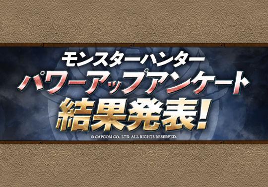 パワーアップ投票で選ばれた★7モンハンキャラ5体がパワーアップ!9月2日中に実装
