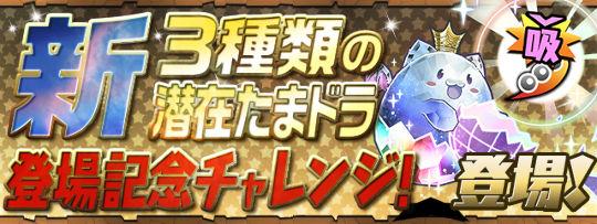 3種類の「新潜在たまドラ登場記念チャレンジ!」登場!