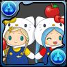 リンゴの泉のキティン&ミミーナ
