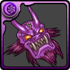 紫色の鬼神面 アイコン