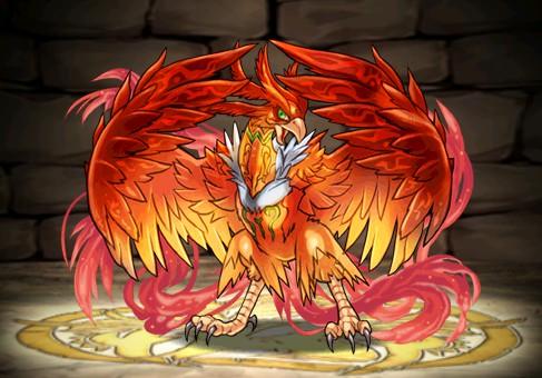 転生の霊鳥・フェニックスのステータス 炎の天空龍ダンジョンで入手のモンスター