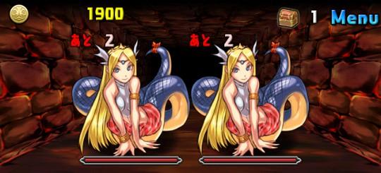 【アンケートダンジョン4】紅の蛇姫 中級 ボス エキドナx2