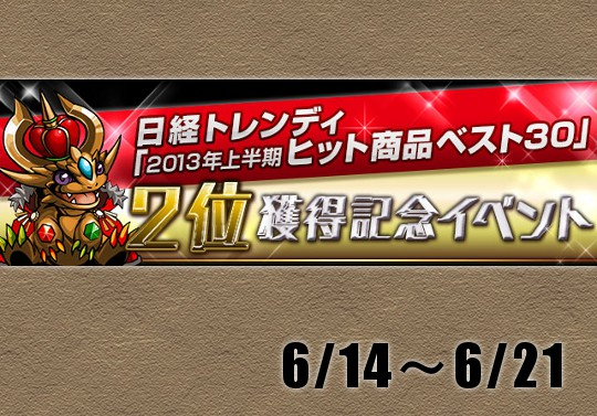 【実質1位】日経トレンディ2位獲得記念イベントが14日から来る!