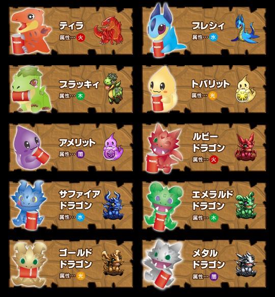 パズドラフィギュアは全10種類