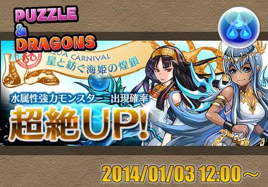 新レアガチャイベント『星と紡ぐ海姫の煌鎖』が1月3日12時から開催!アクアカーニバル