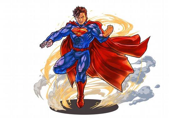 スーパーマンコラボのイラストを公開!北米版パズドラTwitter