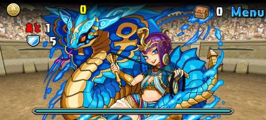 チャレンジダンジョン7 Lv7 1F 秘海の龍騎姫・クレオパトラ