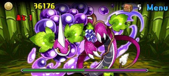 黒の丼龍 地獄級 6F 紫天の果実・ぶどうドラゴン