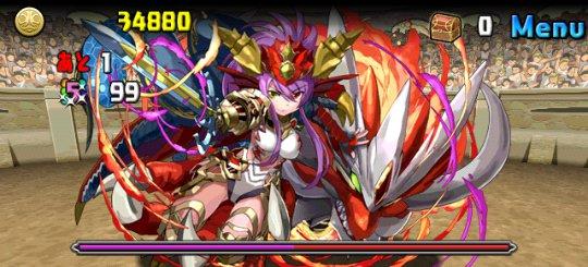 チャレンジダンジョン8 Lv10 4F 絶世の紅龍喚士・ソニア