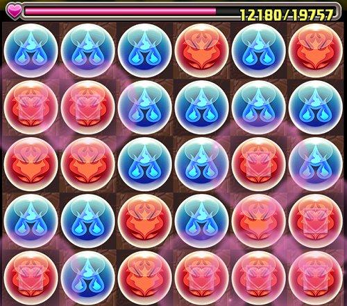 かぐや姫降臨超地獄級 5F 10コンボ盤面