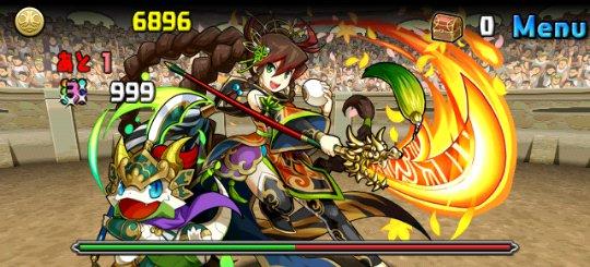 チャレンジダンジョン11 Lv6 4F 桃園の義将姫・関銀屏