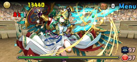 チャレンジダンジョン11 Lv10 2F 聖都の守護神・アテナ