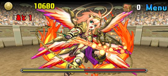 チャレンジダンジョン16 Lv8 4F 神炎の熾天使・ウリエル