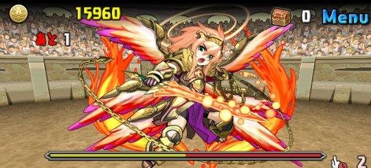 チャレンジダンジョン17 Lv8 4F 神炎の熾天使・ウリエル