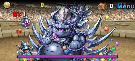 チャレンジダンジョン17 Lv9 超絶キングメタルドラゴン