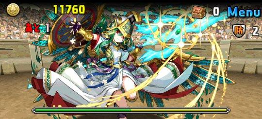 チャレンジダンジョン17 Lv10 2F 聖都の守護神・アテナ
