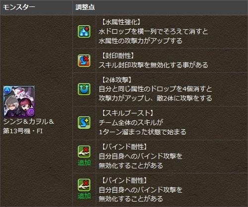 「シンジ&カヲル&第13号機・FI」に覚醒スキルを追加!